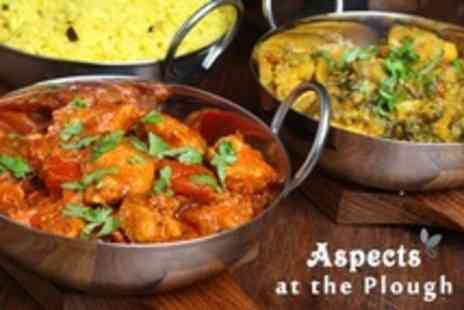 Aspects at The Plough - Two Course Indian or British Meal For Two or Four  From the La Carte Menu  - Save 60%