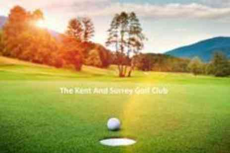 The Kent and Surrey Golf Club - A round of Golf for 2 - Save 74%