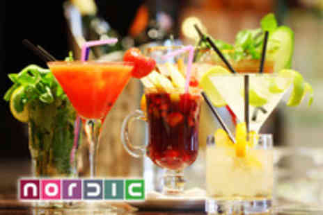 Nordic Bar - Four cocktails and four plates of nibbles between two - Save 71%