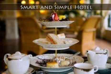 Smart and Simple Hotel - Chocolate Afternoon Tea With Macarons, Brownies, and Bubbly For Two - Save 60%