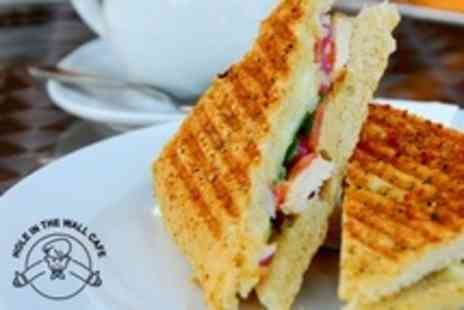 The Hole In the Wall Cafe - Panini and Hot Drink For Two - Save 58%