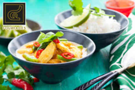Four Faces - 2 course meal for 2 including starter, main & rice each - Save 56%