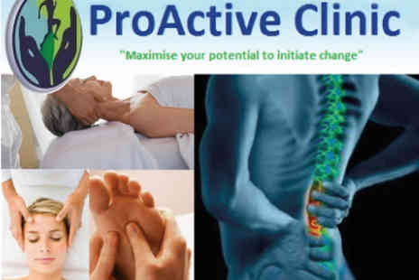 ProActive Clinic - £39 for Chiropractic Consultation, 3 Treatments, and 1-hour Gait Scan (£236 value) - Save 83%