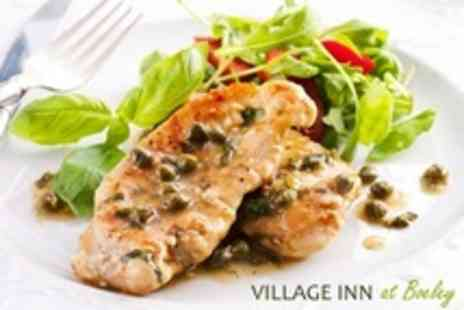 The Village Inn- Two Course British Fare Meal For Two Adults Plus Kids Meal - Save 59%