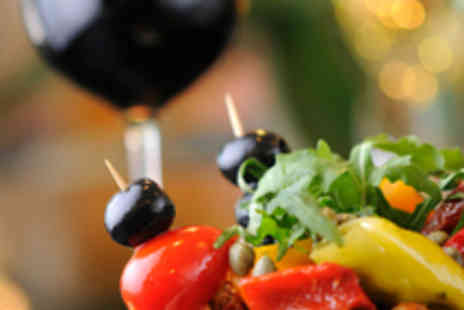 Great Eatery - Four Tapas Plates for Two People and Wine - Save 57%