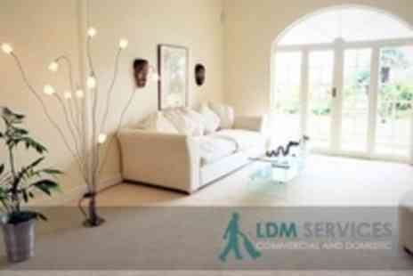 LDM Services - Domestic Clean of Carpet in Two Rooms - Save 69%