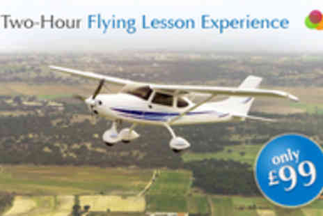 Hinton Pilot Flight Training - Two Hour Light Aircraft  Flying Lesson Experience - Save 67%