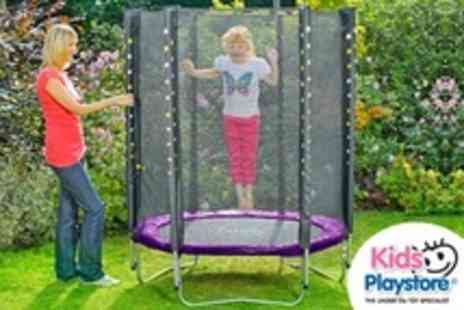 Kids Playstore.com - Plum Stardust Trampoline With Enclosure - Save 53%