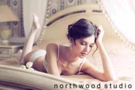 Northwood Studio - Standard or Vintage Boudoir Shoot With Makeover, Print and Image CD - Save 92%