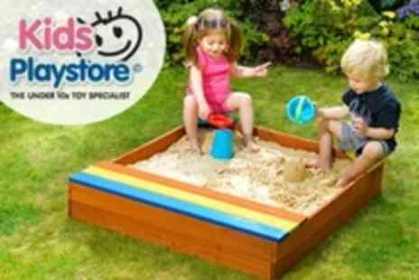 Kids Playstore.com - Kids Outdoor Wooden Sand Pit - Save 50%