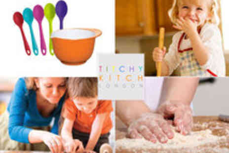 Titchy Kitch - Kids Home Cookery Party Including Cooking Utensils, Party Bags, Decorations - Save 51%