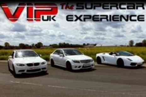 VIP UK Experience Days - Nine Supercar and Touring Car Experience Laps in Cars Such as BMW M3 - Save 76%