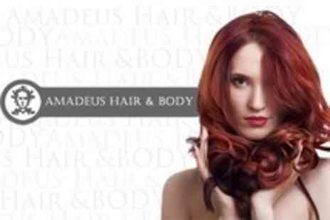 Amadeus Hair and Body - Half Head Highlights or Full Head Colour With Cut and Blow dry - Save 67%