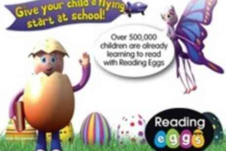 Reading Eggs - 12 month subscription to Reading Eggs an online childrens reading programme - Save 55%