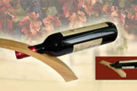 Clearly contemporary - Wooden wine holder for a cork popping  - Save 93%