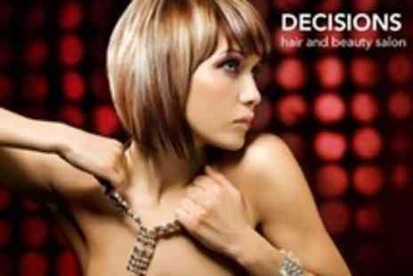 Decisions Hair and Beauty Salon - Half or Full Head Highlights With Condition Cut and Finish - Save 52%