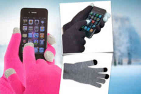 iGadgetry - Pair of Pro Tec touchscreen gloves in pink, black or grey - Save 58%