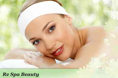 Re Spa Beauty - Choice of Two Beauty Treatments Including Facials, Waxing and Massage - Save 77%
