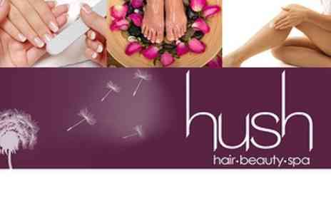 Hush Hair and Beauty Spa - Three treatments including Tan, Mani and Pedi - Save 66%