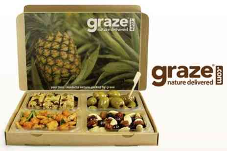 graze - Four Healthy Snack Boxes Delivered Fresh to Your Door - Save 64%
