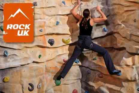 Rock UK Summit Centre - 90 Minute Rock Climbing and Caving Taster Experiences For One or Two - Save 76%