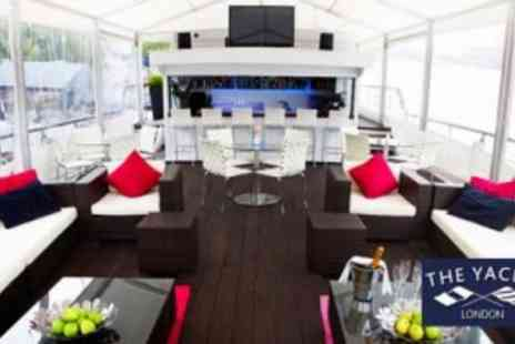 The Yacht London - Two Course Meal For Two Including Welcome Drink On Board - Save 54%