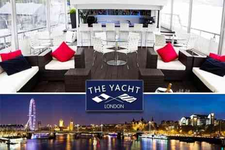 The Yacht London - Three Course Meal With Wine For Two On Board The Yacht London Over The Royal Wedding Weekend - Save 60%