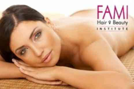 Fami Hair and Beauty Institute - 24 Carat Gold Leaf Gel Facial With Massage - Save 50%