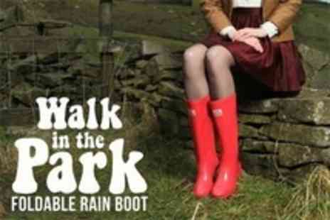 Clever Pretty Shoes - Walk in the Park Festival Folding Wellies - Save 67%