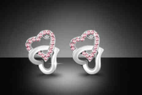 Trinkets - Choice of 3 pairs of heart shaped earrings with Swarovski Elements - Save 74%