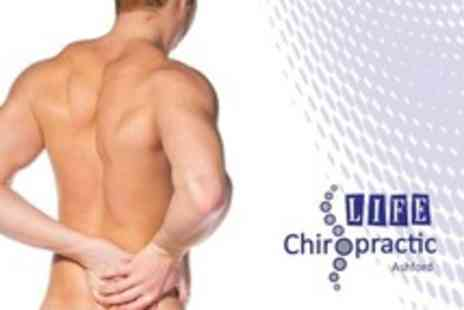Life Chiropractic - Consultation With Massage and Follow Up Treatments - Save 74%