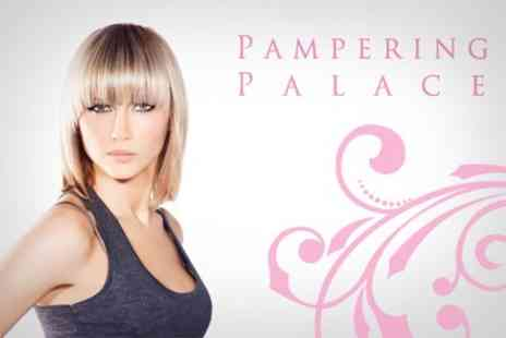 Pampering Palace - Colour or Half Head of Highlights Plus Cut and MOROCCANOIL Treatment - Save 69%