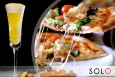 Solo - 12 inch Pizza With Bellini Cocktail For Two - Save 59%