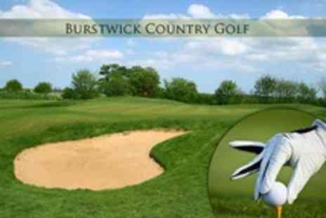 Burstwick Country Golf - Full Day of Golf For Two Plus 100 Range Balls Each - Save 65%