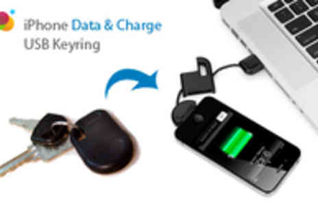 Smartass - iPhone Charger & Sync Cable in a USB Keyring - Save 87%