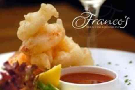 Francos Terrace Bar  - Two Course A La Carte Meal and Prosecco For Two - Save 61%