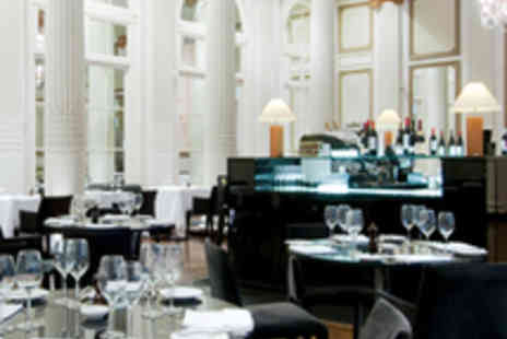The Waldorf Hilton Hotel - 3 Course Meal for 2 plus Champagne Cocktail - Save 46%