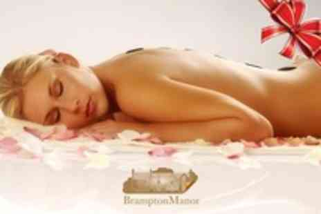 Brampton Manor - Warming Winter Ritual Spa Day For One With Hot Stone Massage and Mani or Pedi - Save 62%