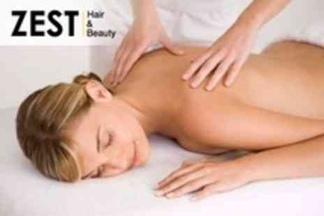 Zest Hair and Beauty - Therapeutic or Swedish Full Body Massage - Save 51%