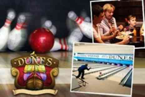 The Dunes - Bowling Two Games For Four With Soft Drink and Hotdog or Fries - Save 72%