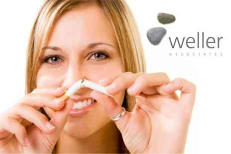 Weller Associates - Smoking Cessation, Weight or Stress Management Hypnotherapy Package With Online Support - Save 82%