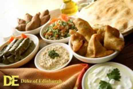 Duke of Edinburgh - Main Courses With Hot and Cold Meze Platters to Share Plus Wine - Save 47%