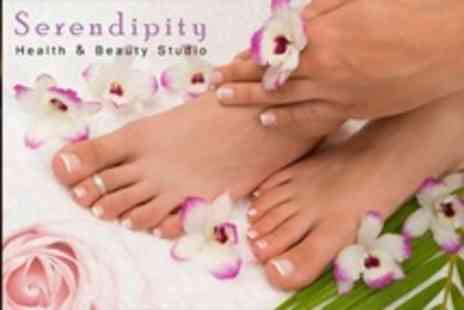 Serendipity Health and Beauty - Manicure or Pedicure With Afternoon Tea For Two - Save 66%