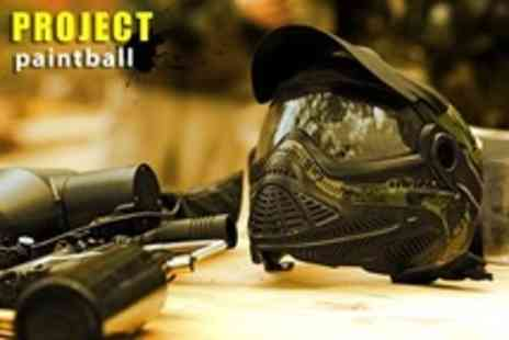 Project Paintball - Paintballing With 100 Paintballs, Smoke Grenade and Lunch - Save 88%