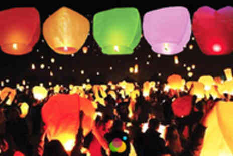 Global Deals - Make a Wish with 5 Flying Lanterns - Save 50%