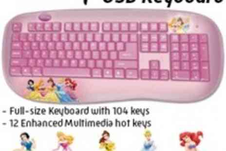 Led Hut - Disney Princess USB Keyboard Ideal for your own little princess - Save 7%