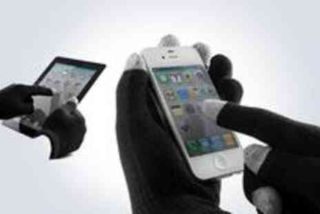 Digital Deals - Pair of touch screen gloves from Digital Deals - Save 75%