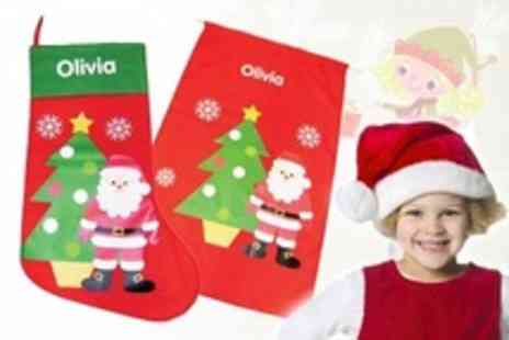 Identity Direct - Personalised Christmas Stocking or Present Sack Including Delivery - Save 37%