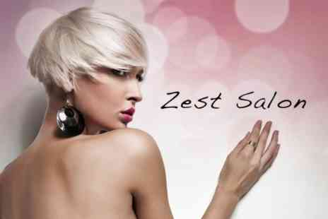 Zest Hair & Beauty - Half Head of Highlights or Colour Plus Treatment, Wash and Cut - Save 60%