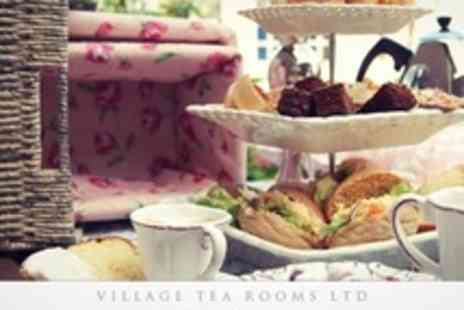Village Tea Rooms - Afternoon Tea For Two With Mince Pie or Cake Plus Choice of Soup or Sandwiches for Two - Save 50%